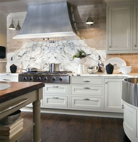 book matched slabs  marble  range hood  top