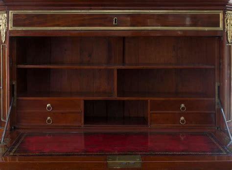 bureau leclerc louis xvi brass mounted mahogany bureau cabinet sted c