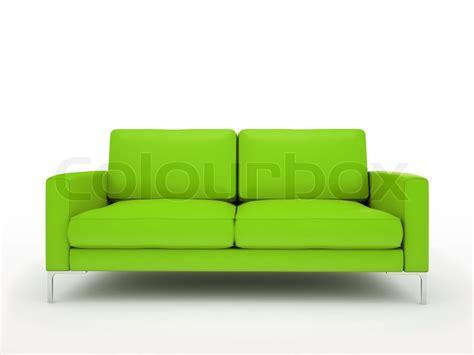 Moderne Grüne Sofa Isoliert Auf Weißem Hintergrund