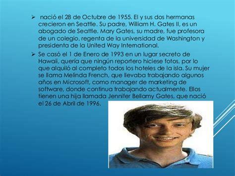 Bill Gates Resumen De Su Biografia by Biografia De Bill Gates