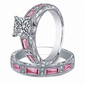 princess diamond engagement ring matching wedding band With wedding ring sets with sapphire accents