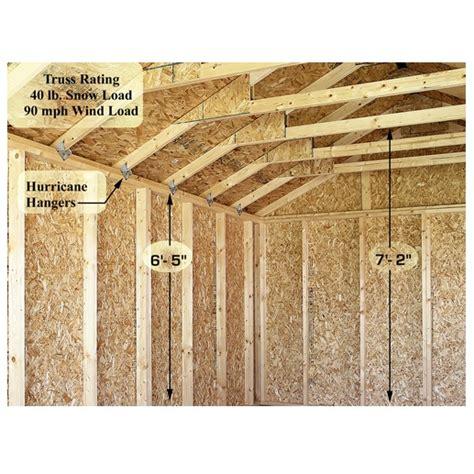 brookfield 12x16 ft best barns wood shed barn kit