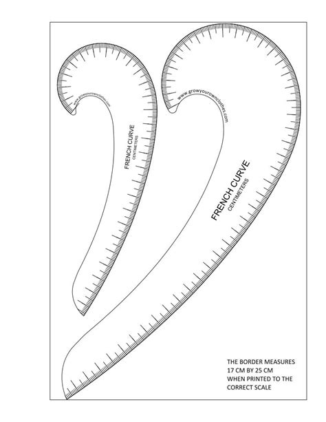 curve template more free printable hip grow your own clothes