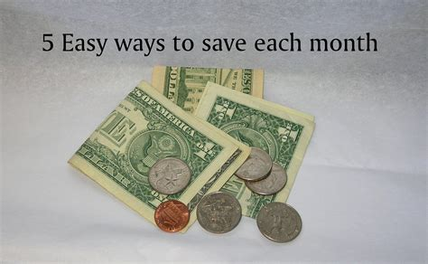 5 Easy Ways To Save Money Each Month  A Proverbs 31 Wife