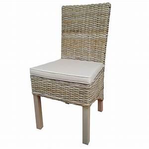 Entrepot Destockage Maison Du Monde : chaise en bois d 39 acajou et rev tement en rotin avec ~ Melissatoandfro.com Idées de Décoration