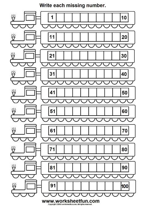 Missing Numbers (1  100)  6 Worksheets  Printable Worksheets