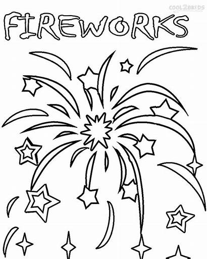 Fireworks Coloring Pages Bonfire Printable Firework Colouring