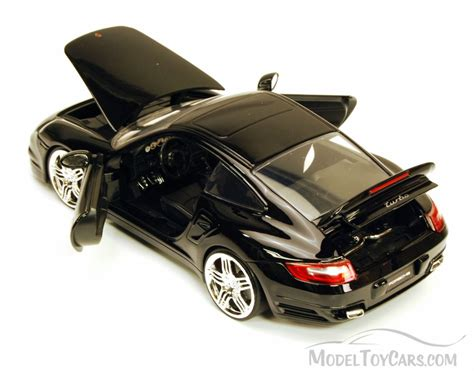 porsche model car porsche 911 turbo black jada toys bigtime kustoms 91852