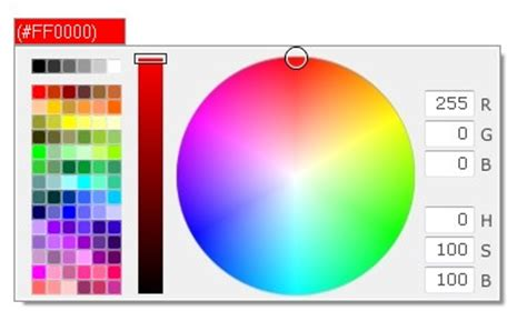 simple flexible easy to use color picker for the