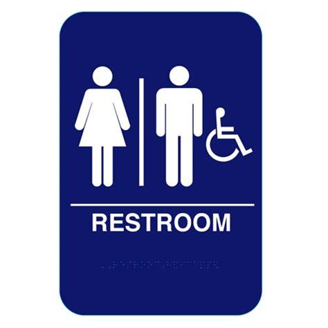 california approved unisex handicap  restroom sign cr