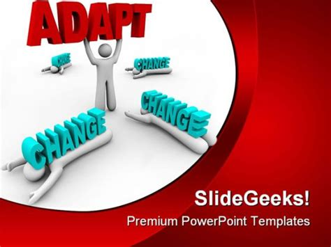 adapt change business powerpoint backgrounds  templates