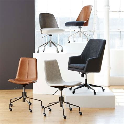 slope upholstered office chair west elm