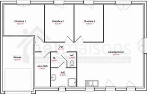 maison individuelle lesmaisons com 101 plan plain pied 1 With norme electricite maison individuelle