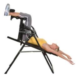 inversion chair for exercise therapy and chiropractic back tension relief