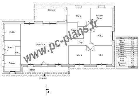 plan appartement 3 chambres pc plans catalogue nos plans de maison