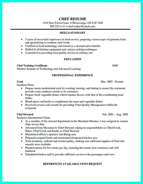 Cv Format For Cook by Chef Assistant Resume And Sous Chef Resume Cover Letter