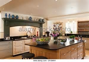 oak kitchen island units wooden island unit in large stock photos wooden island unit in large stock images alamy