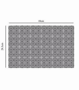 Set De Table Design : set de table design petits carreaux de ciment noir en vinyle set de 6 ~ Teatrodelosmanantiales.com Idées de Décoration