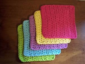 Simple and Practical Dish Cloth Crochet Pattern - Stitch11