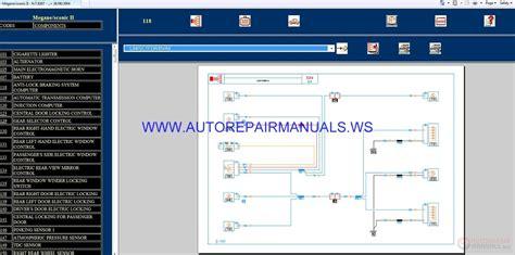 renault megane scenic ii x84 nt8267 disk wiring diagrams