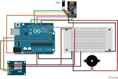 how to build a gsm cellular panic alarm using an arduino
