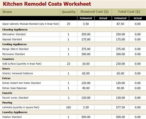 Kitchen Remodel Estimate Calculator kitchen remodel estimate template romeo landinez co