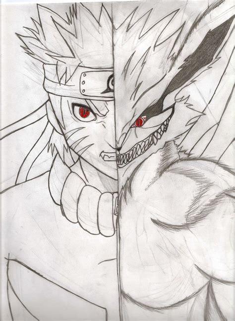 naruto  tailed fox form drawings