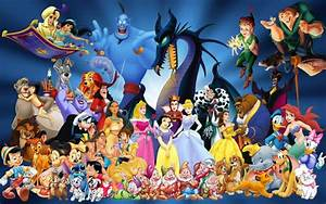 Disney - all characters together #childhood #Disney # ...