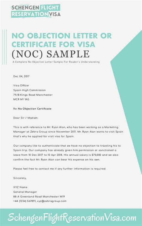 objection letter  certificate sample