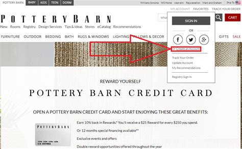 pottery barn credit card pottery barn credit card login