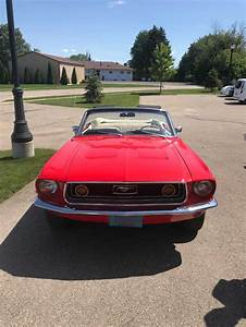 1st gen red 1968 Ford Mustang convertible automatic For Sale - MustangCarPlace