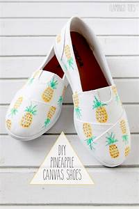 Diy, Pineapple, Canvas, Shoes