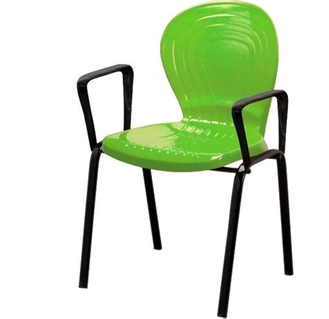 plastic office chair with metal leg