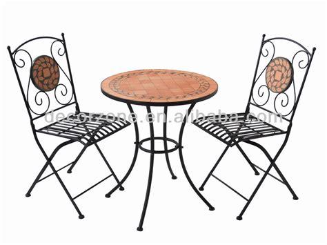 outdoor ceramic iron bistro garden table chair set