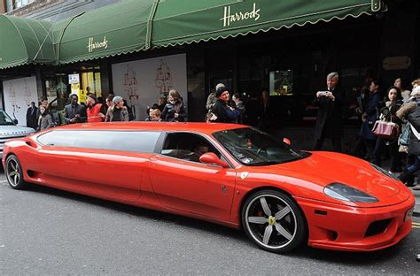 Limo broker\'s ferrari limo is a one of a kind design. Ferrari 360 Modena Limousine - The Perfect Ride For Santa News - Top Speed