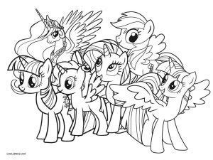 printable   pony coloring pages  kids