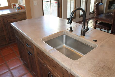 kitchen sinks az concrete countertops tucson az zona decorative concrete 6086