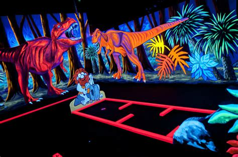 Black Light Mini Golf by Black Light Mini Golf Offers 3 D Experience Community