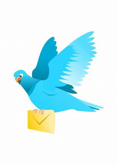 Message Pigeon Clipart Flying Clip Delivering Email