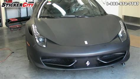 matte black ferrari  italia car wrap stickercitycom