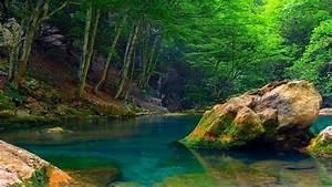 Nature, Mountain, River, Green, Trees, Green, Wallpaper, Hd
