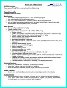 cna resume sle for hospital quot mention great and convincing skills quot said cna resume sle