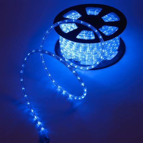 led rope light blue festive lights
