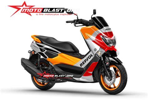 Modif Striping Honda Astrea Grand Repsol by Modif Striping Yamaha Nmax Repsol Edition Motoblast