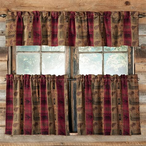 cabin kitchen curtains country plaid curtains shop