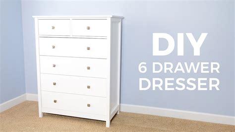 Diy 6 Drawer Tall Dresser