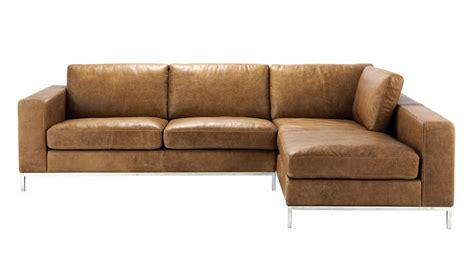 maison du monde canap d angle canapé d 39 angle vintage 4 places en cuir camel