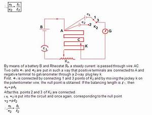 A State The Working Principle Of A Potentiometer With The