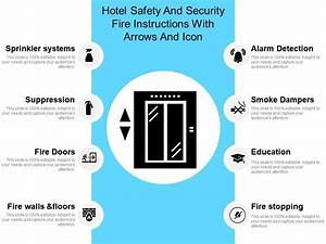 Hotel Safety And Security Fire Instructions With Arrows