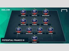 Martial & Giroud in? How France could line up without